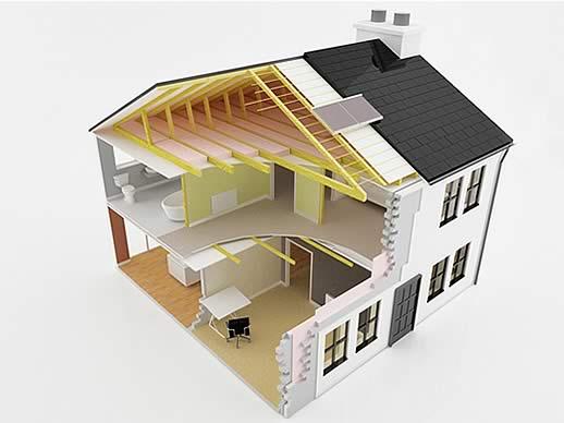 Unsere leistungen energetische sanierung zimmerei for Ways to cut cost when building a house